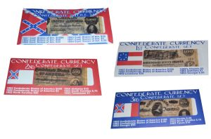 4 x Confederate Replica Currency Sets Battle, 1st, 2nd, 3rd